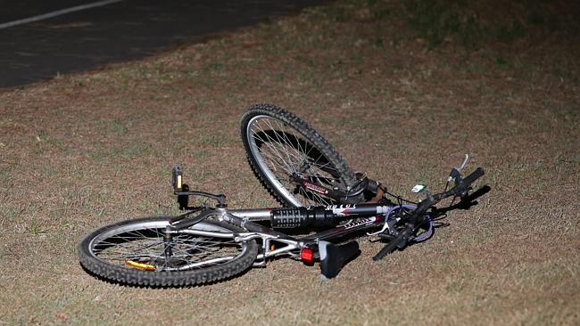 The allegedly stolen bike the man was riding when he was arrested. Picture: Bill Hearne