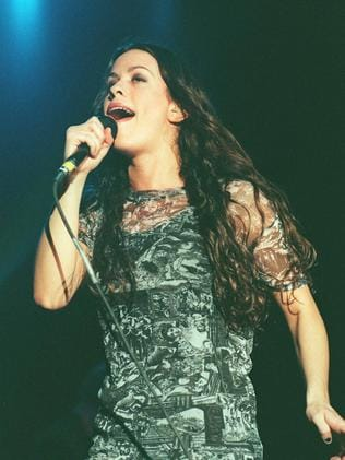 Alanis Morissette in Brisbane in 1996: Pic: Supplied