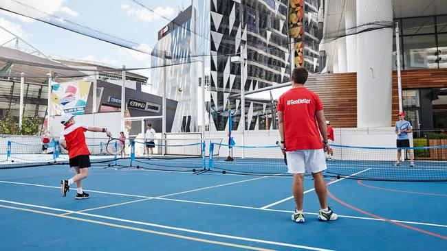 The Medibank sports courts.