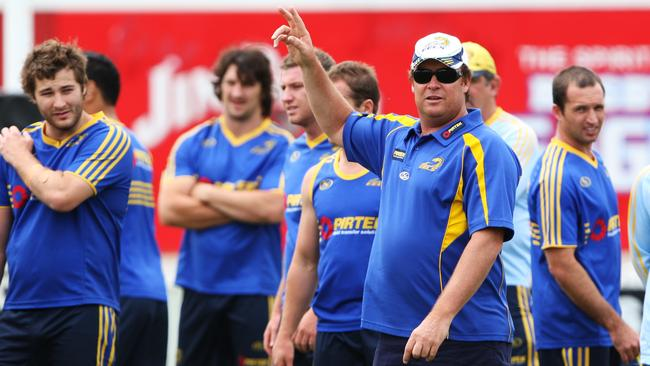 Former Eels coach Daniel Anderson at Eels training.