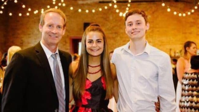 Mr Conner with daughter Abbey and son Austin. Source: GoFundMe