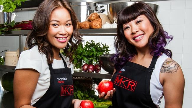 Last year's most disliked MKR contestants Ashlee and Sophia. Picture: Channel 7