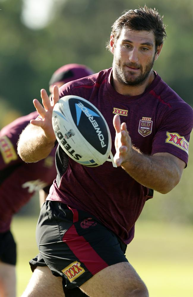 Dave Taylor at Queensland State of Origin training.
