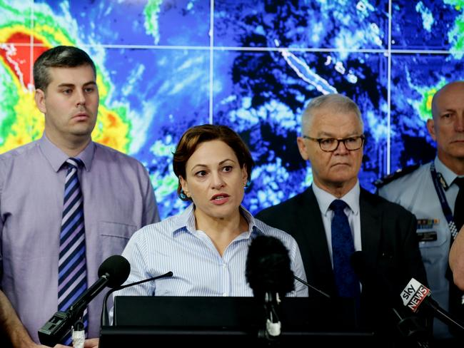 Unprecedented: Deputy Premier Jackie Trad announced all schools would be closed from Agnes Waters to the state's southern border. Picture: Mark Calleja