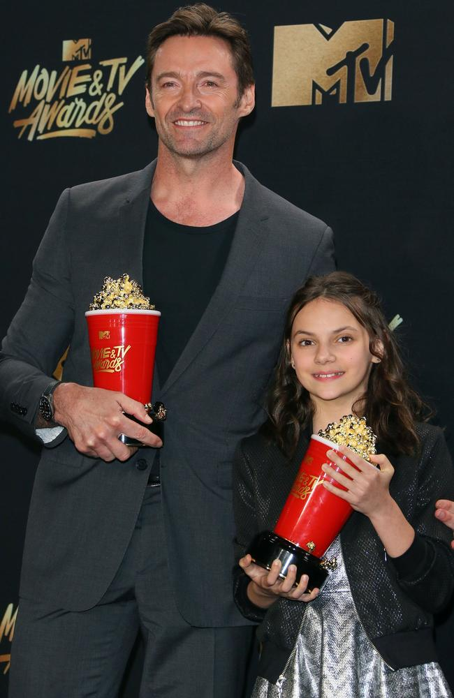 Hugh Jackman and Dafne Keen won the Best Duo nomination at the MTV Movie and TV Awards. Picture: Jean-Baptiste Lacroix