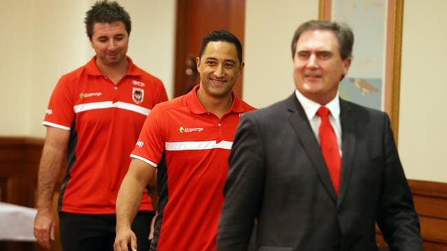 Benji Marshall announces he is signing with the St George Illawarra Dragons.