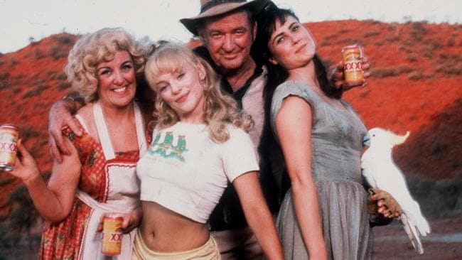 Rod Taylor with Maggie Kirkpatrick, Susie Porter, Rod Taylor and Dee Smart in another shot from Welcome To Woop Woop.
