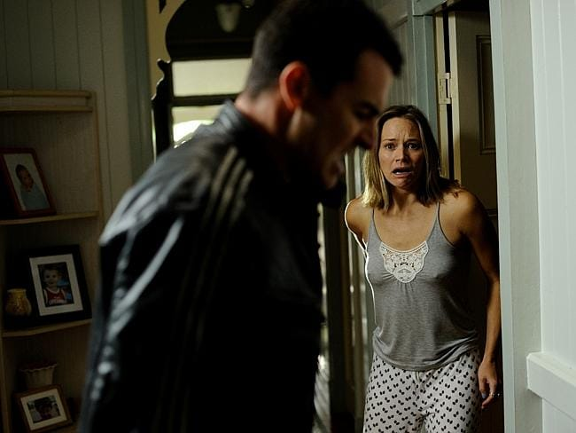 Who killed Thom ... Adrienne Pickering in Channel Ten's Secrets and Lies