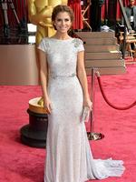 TV personality Maria Menounoson the red carpet at the Oscars 2014. Picture: Getty