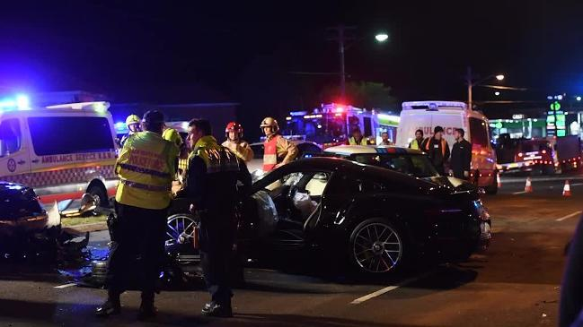 porsche mini cooper involved in chaotic multi car crash at roselands