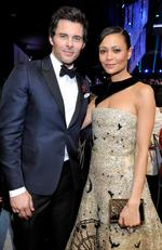 James Marsden and Thandie Newton attend The 23rd Annual Screen Actors Guild Awards Cocktail Reception at The Shrine Auditorium on January 29, 2017 in Los Angeles, California. Picture: Getty