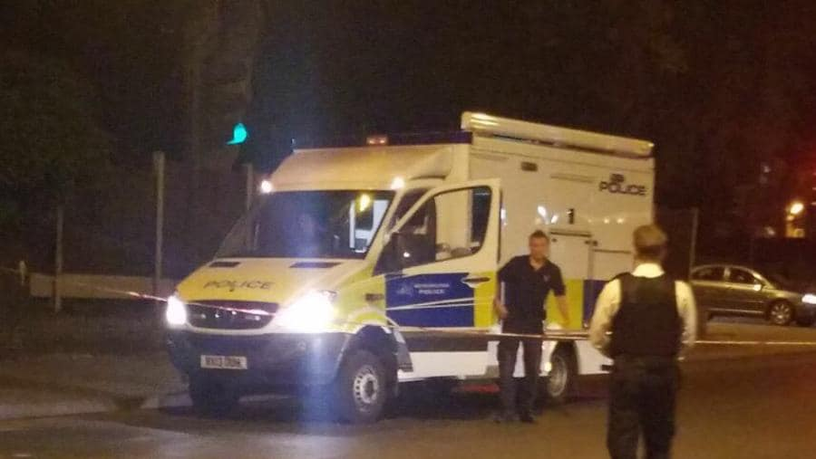 A picture posted by London Ambulance on Twitter shows the scene of one of the London acid attacks.