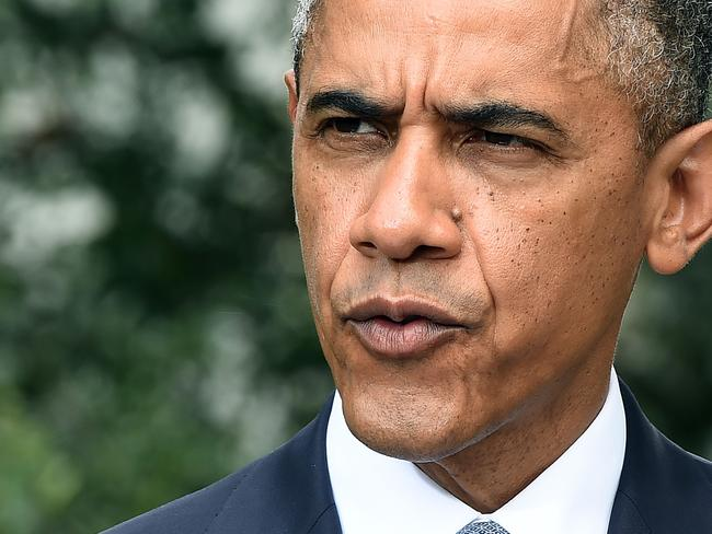 Angry ... US President Barack Obama says Russia must stop Ukrainian separatists tampering with the site of the Malaysian airline disaster. Picture: Jewel Samad