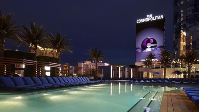 The Marquee and Boulevard Pool at The Cosmopolitan hotel in Las Vegas, where guests will stay. Picture: Supplied