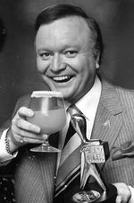 "Winner of the Gold Logie Award 1981. TV personality Bert Newton for ""The Don Lane Show "" and ""New Faces"", Nine Network."