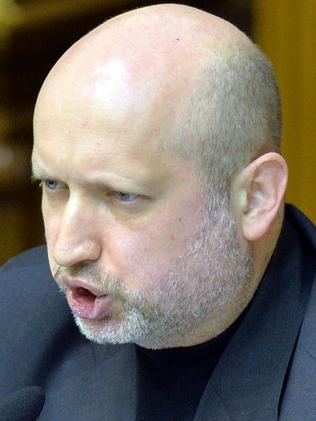 Warning about Russian-backed rebels ... Ukrainian Parliament Speaker Olexandr Turchynov. Picture: Sergei Supinsky