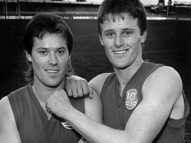 Jamie Grant joined his brother Chris Grant at Footscray through the 1990 mid-season draft.