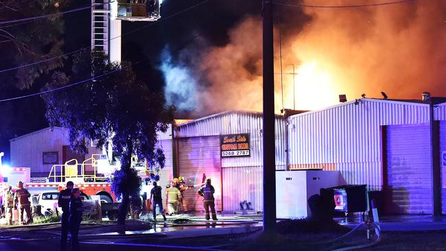 Fire crews battle to save Bandidos Geelong clubhouse ...