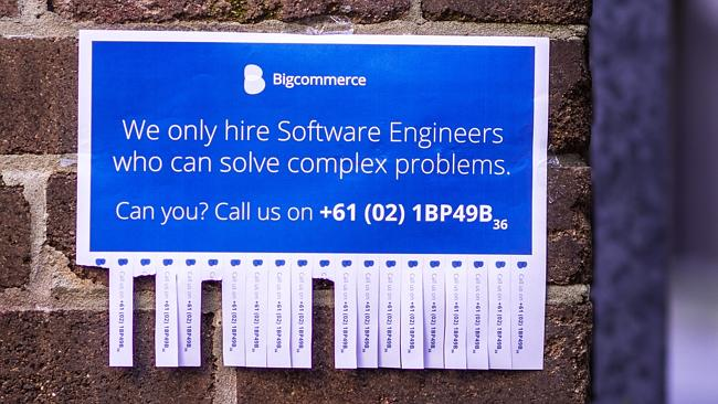 The Bigcommerce ad. Can you crack it?