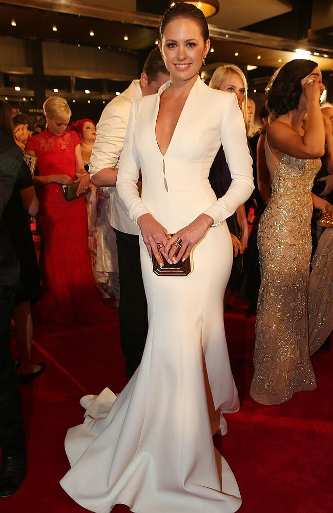 Jesinta Campbell arrives at the 2014 Logie Awards at Crown Palladium. Picture: Julie Kiriacoudis