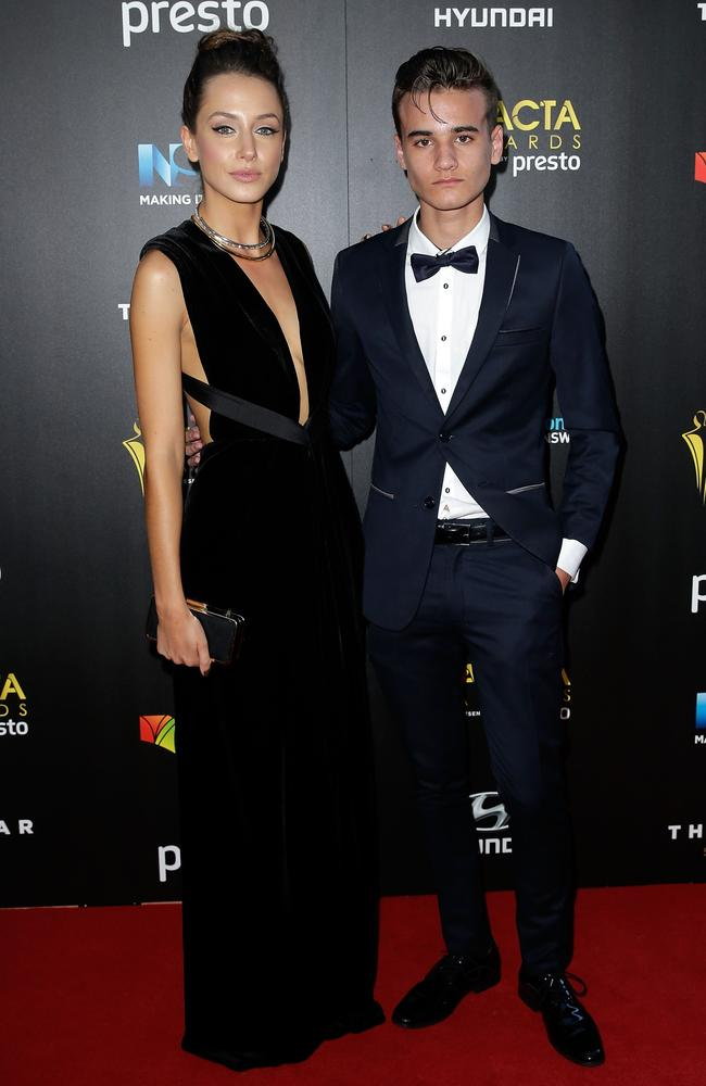 Isabella Giovinazzo and Will McDonald arrive ahead of the 5th AACTA Awards Presented by Presto at The Star on December 9, 2015 in Sydney, Australia. Picture: Getty