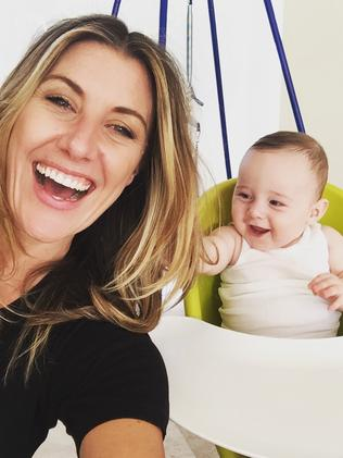 Former Channel Seven personality Talitha Cummins with son Oliver.
