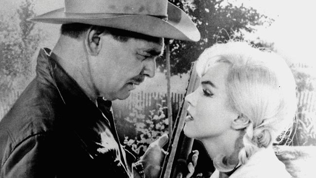 """Clark Gable and Marilyn Monroe, play a scene in """"The Misfits"""" Photo: AP"""