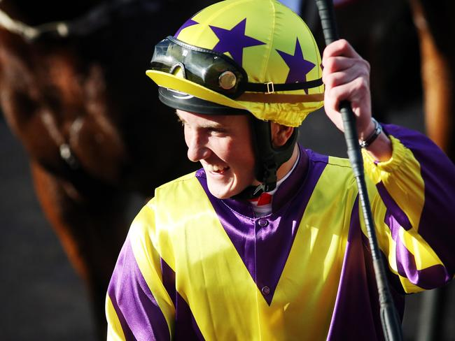 Chad Schofield after his Queensland Derby success on Sonntag the day before his Cranbourne tumble. Picture: Tara Croser