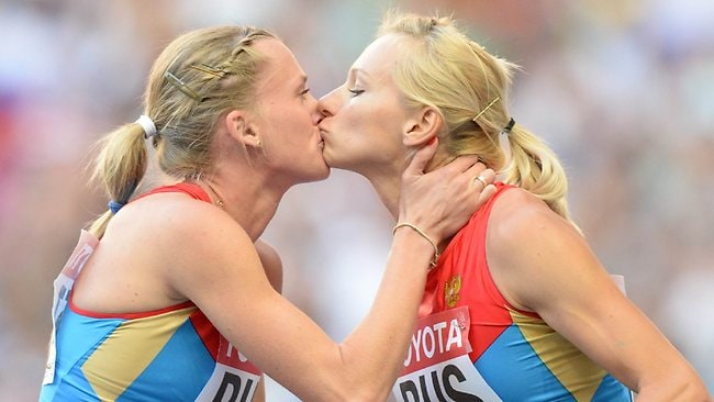A podium kiss between Russian athletes Kseniya Ryzhova and Tatyana Firova sparked debate as to whether it was a congratulatory peck or a statement on Russia's anti-gay stance.