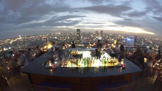 Verigo Bar in Bangkok has one of the best views in the world. Picture: Banyan Tree.