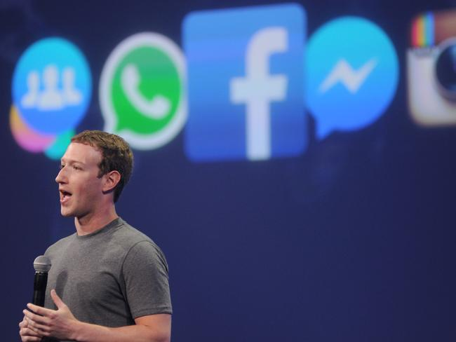 Facebook CEO Mark Zuckerberg. Picture: AFP.