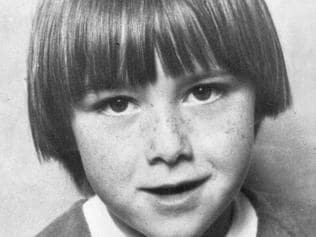 Kylie Maybury, six year old girl found murdered in her Preston home. nov. 1984. p/ /murders Picture: Photo File