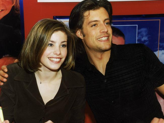 A young Satchwell at an autograph session with  <i>Neighbours</i> co-star Dan Paris. Picture: News Corp Australia