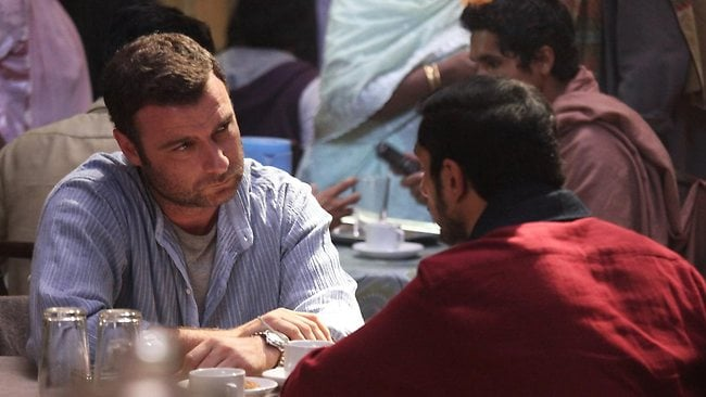 Convincing: Liev Schreiber (left) and Riz Ahmed give solid performances in The Reluctant Fundamentalist.