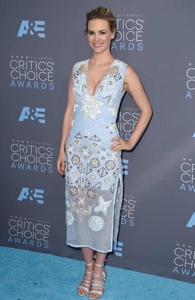 January Jones attends the 21st Annual Critics' Choice Awards on January 17, 2016 in California. Picture: AP
