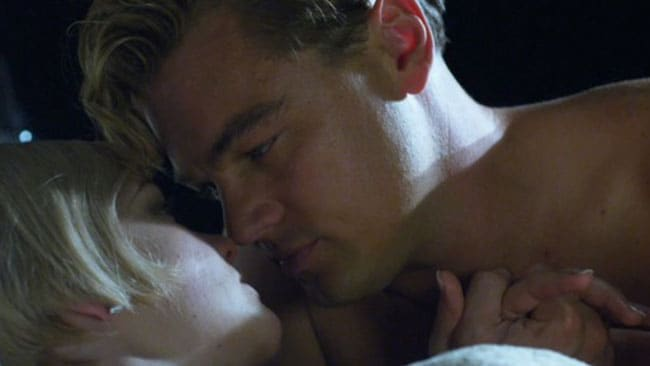 Carey Mulligan and Leonardo DiCaprio in a scene from Baz Luhrmann's The Great Gatsby. Picture: Supplied