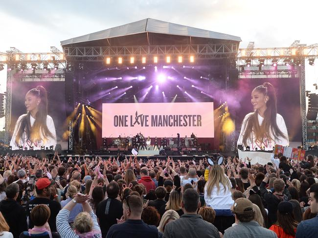 A massive crowd turned out for the concert, which was organised in mere days. Picture: Getty