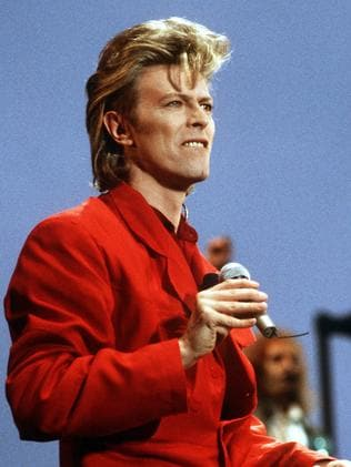 Rock music legend . David Bowie performing on stage in Germany in 1987. Picture: AFP