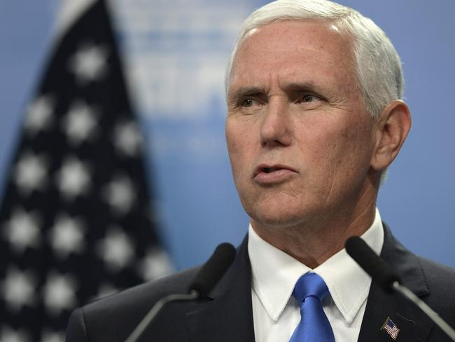 "US Vice President Mike Pence has called the shutdown's effect on military wages ""unconscionable"". Picture: AFP"