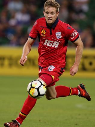 Ryan Kitto has caught the eye in limited game time for Adelaide United this A-League season. Picture: Will Russell/Getty Images