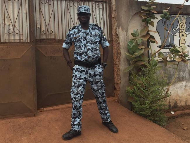 National police were part of our entourage while travelling through the Ivory Coast — a measure locals thought was overkill.