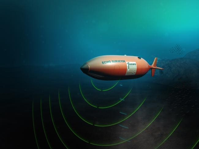 The Fugro Equator, the autonomous underwater vehicle (AUV) launched from the Australian-contracted survey ship M/V Fugro Discovery as part of a new high-resolution search for missing Malaysia Airlines flight MH370.
