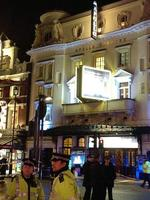 The scene outside the ceiling collapse of the Apollo Theatre, in London's Shaftesbury Avenue. Picture: ZeitLife/Twitter