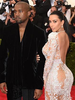 Kim Kardashian and Kanye West at the Met Gala 2015. Picture: Getty