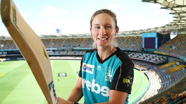 WBBL weapon with the willow, Brisbane Heat's Beth Mooney, has been making a name for herself in the national team. Photographer: Liam Kidston.