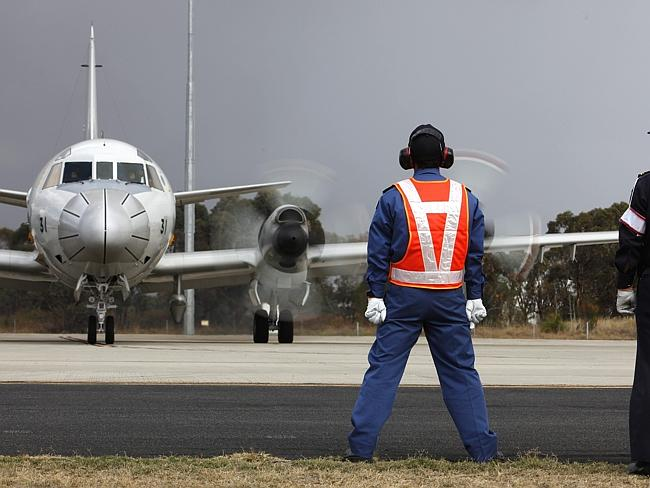 Search...A P3-C Orion prepares to depart RAAF Base Pearce in Bullsbrook, 35 kms north of Perth. The intensive aerial search for surface wreckage from Malaysia Airlines flight MH370 officially ended on April 30. Picture:AFP/AUSTRALIAN DEFENCE/CPL NICCI FREEMAN