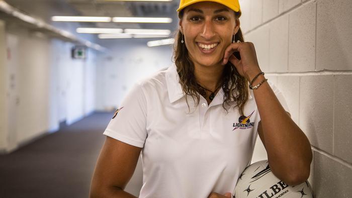 New Sunshine Coast Lightning player and England international Geva Mentor.