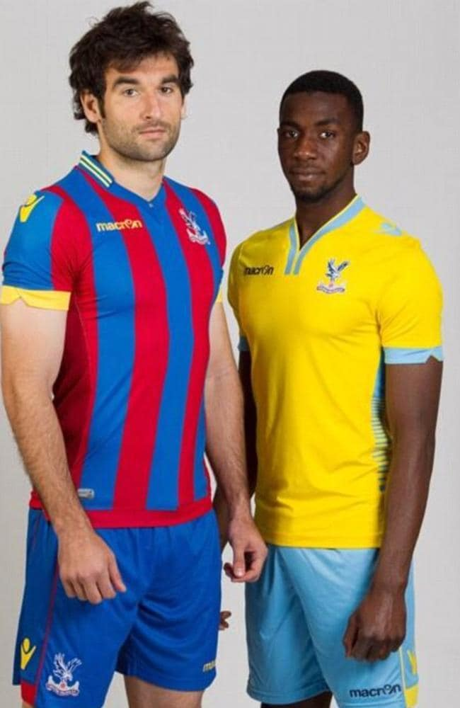 Skipper Mile Jedinak models Palace's super-snug home strip.  <b>EVERTON</b> <b></b>
