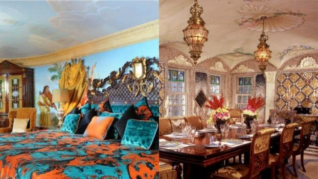 Left: a suite at the Villa by Barton G. Right: private dining at the Villa by Barton G.