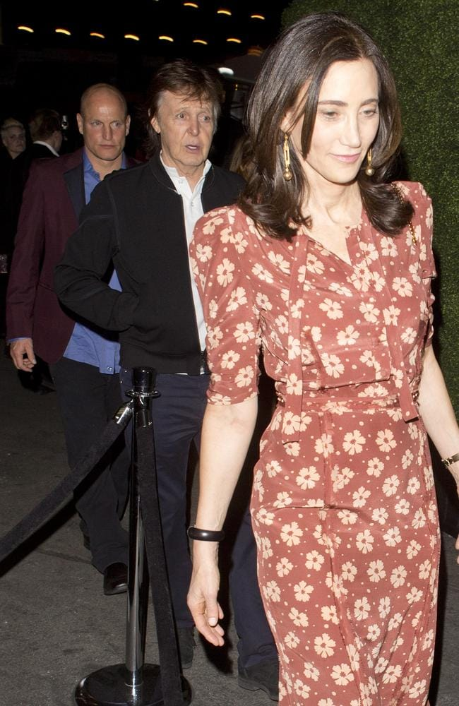 Not VIP enough ... Paul McCartney and his wife Nancy Shevell made their way to Hyde for the Republic Records party with actor Woody Harrelson instead. Picture: SPW/Splash News